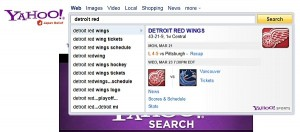 Yahoo search direct tool.